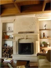 marblefireplacemantle  custom designed limestone fireplace