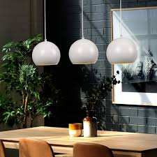zmh pendelleuchte pendelle esszimmer aus aluminium in weiß hängeleuchte 3 x led e27 hängele kaufen otto
