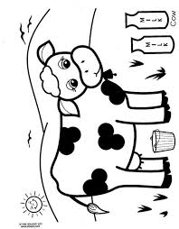 Farm Cow Coloring Page Printables For Kids Word Search