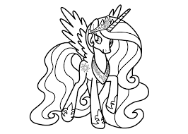 Important Princess Luna My Little Pony Coloring Page Best Of Pages Filly Design