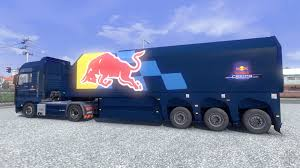 Skin Red Bull Racing Hochglanz On The Truck MAN For Euro Truck ...