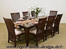 barock esszimmer garnitur kolonial g4 braun tisch mit 8stühlen
