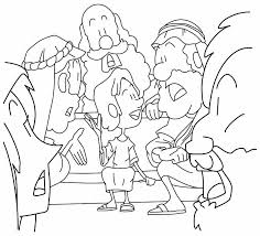Young Boy Jesus In The Temple Coloring Page Luke 241