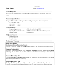 Cover Letter Computer Science New Freshers Resume Samples For Sample Free Template