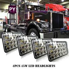 100 Ebay Commercial Truck 4x LED Headlights For Western Star 4900 Semi