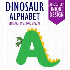 Dinosaur Alphabet Letters Digital Cutting Files Ai EPS SVG Etsy