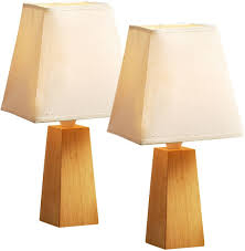 Amazonca Desk Lamps by Pair Of Wooden Table Desk Lamps Amazon Co Uk Lighting