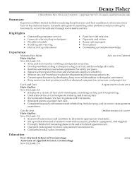 Beauty Sales Resume Sample Cosmetology Student Templates More Ogy Recent Graduate