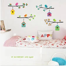 Hot Bird Nest Stickers For Wall Decoration Kids Chart Home Decor In From Garden On
