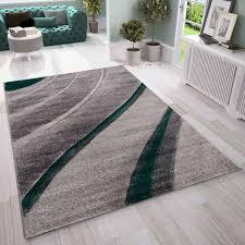 designer moderner wellen teppich wohnzimmer inneneinrichtung neu grün vimoda homestyle