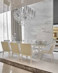100 In Marble Walls LUXURY DINING ROOM Marble Walls And Statement Chandelier Are