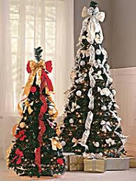 Effortless Holiday Charm That Lasts Throughout The Season Pull Up Decorated Christmas Tree From Blair