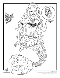 Barbie Coloring Pages Mermaidia Page Cartoon Jr Links Thru To A Site With Heaps Of Printables And Games