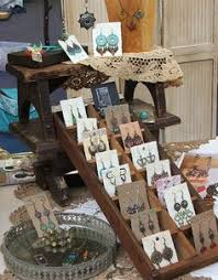 Burlap French Market Jewelry Displays