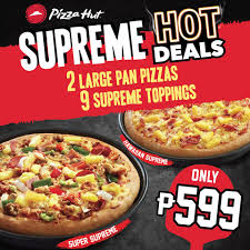 Pizza Hut Promo 2 Large Pan Pizzas, 9 Supreme Toppings All For P599 ... Print Hut Coupons Pizza Collection Deals 2018 Coupons Dm Ausdrucken Coupon Code Denver Tj Maxx 199 Huts Supreme Triple Treat Box For Php699 Proud Kuripot Hut Buffet No Expiration Try Soon In 2019 22 Feb 2014 Buy 1 Get Free Delivery Restaurant Promo Codes Nutrish Dog Food Take Out Stephan Gagne Deals And Offers Pakistan Webpk Chucky Cheese Factoria
