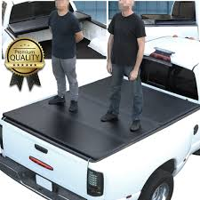 04-18 Ford F150 5.5Ft Short Bed Hard Solid Tri-Fold Clamp-On Tonneau ...