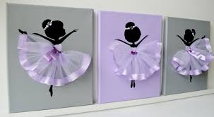Baby Wall Decals South Africa by Dancing Ballerinas Wall Decor Nursery Wall Art In Lavender