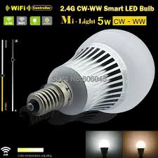 ac85 265v 2 4g mi light e14 5w color temperature adjustable dual