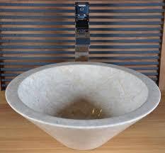 vasque en marbre beige sanur vasque de salle de bain en marbre