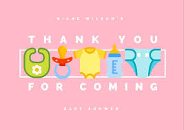 Baby Shower Logo by Baby Shower Thank You Card Templates Canva