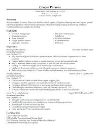 Retail Manager Resume Format Supervisor Sample Inventory
