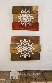 Pallet Art Holiday Snowflake Wall Hanging By TealElephantBoutique 3999