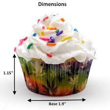 Marijuana Paper Baking Cupcake Brownie Muffin Disposable Liner Set Pack Standard Size