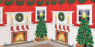Cheap Scene Setters Halloween by Christmas Scene Setters Christmas Themed Vinyl Wall Decorations