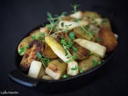 cuisiner des pommes de terre ratte poêlée de pommes de terre ratte et asperges d alsace je vais vous