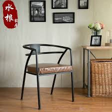 wind retro metal chairs wrought iron bar chairs lounge chair