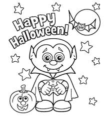 Little Vampire Printabel Halloween Coloring Pages