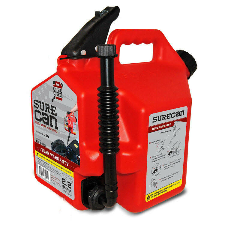 SureCan SUR22G1 Plastic Gas Can - 2.2gal