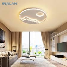 iralan led deckenleuchte moderne natur sonnenaufgang design wohnzimmer schlafzimmer küche esszimmer leuchte icfw1910