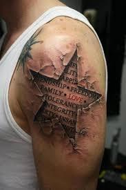 Collection Of 25 Patriotic Memorable Tattoo Behind Left Shoulder