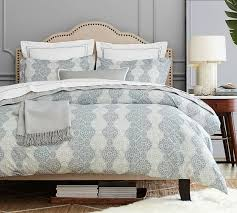 Pottery Barn Raleigh Bed by Haven Mosaic Organic Duvet Cover U0026 Sham Pottery Barn L Coastal