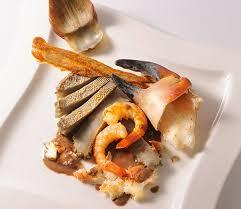 recette cuisine gastro recette gastronomique d artichauts et crustacés jus cacaoté et