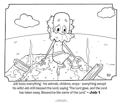 Job Loses Everything Coloring Page