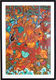 Famous Kerala Mural Artists by Kerala Mural Painting Lord Krishna Wall Murals You U0027ll Love
