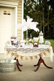 Burlap Party Decor And Lace Vintage Wedding Ideas Backyard Via Karas
