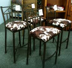 Cowhide Bar Stool We Have 4 Cowhide Barstools At IConsign ...