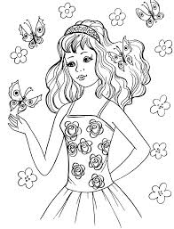 58 Coloring Pages For Girls Cartoon Valentine Heart Page