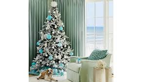 Beach House Christmas Tree With Turquoise Ornaments