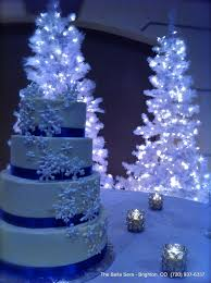 Winter Wedding Cake At Bella Sera