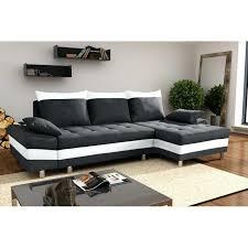 canapé noir et blanc convertible canape d angle blanc et noir canapac tissu angle blanc cocoon