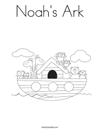 Noahs Ark Photo In Coloring Page