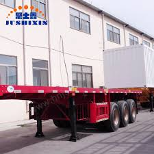 100 20 Ft Truck China ISO CCC Approved 2 Axles FT Flatbed Container Trailer