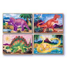Melissa And Doug Dinosaur Floor Puzzles by Melissa U0026 Doug Dinosaur Puzzles In A Box Educational Toys Wooden