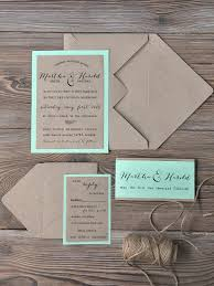 Ideas Recycled Paper Invitations Wedding Or Custom Listing Rustic Invitation Recycling Mint Modern