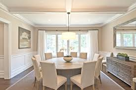 New York Quartz Dining Table Room Traditional With Molding Side Chairs Sisal Rug