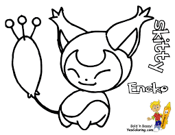 Coloring Picture Of Pokemon Skitty At YesColoring
